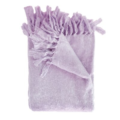 Clematite Throw Blanket Color: Lilac