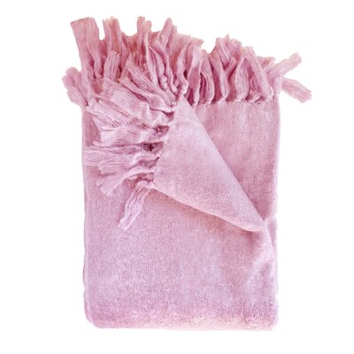 Clematite Throw Blanket Color: Pink