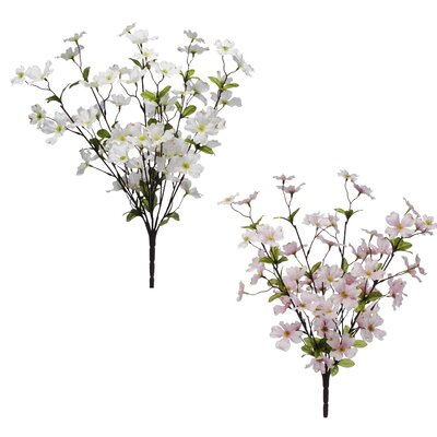 Assortment Dogwood Bush Flowers (Set of 12)