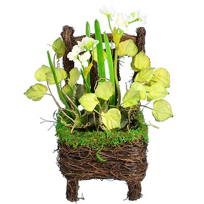 Narcissus Floral Arrangement in Chair Basket