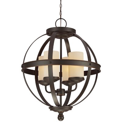 Doris 4-Light Candle-Style Chandelier Shade Color: Caf�