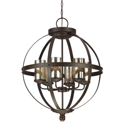 Doris 6-Light Candle-Style Chandelier Shade Color: Mercury