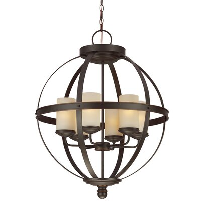 Doris 6-Light Candle-Style Chandelier Shade Color: Caf�