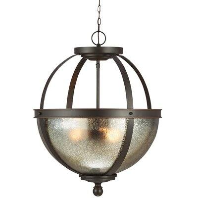 Doris 3-Light Bowl Pendant Shade Color: Mercury