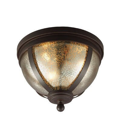 Doris 3-Light 10W Flush Mount Shade Color: Mercury
