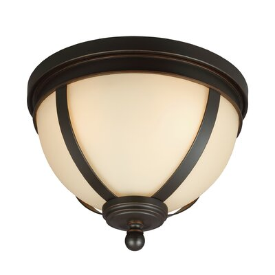 Haute-Marne 3-Light Flush Mount Shade Color: Caf�