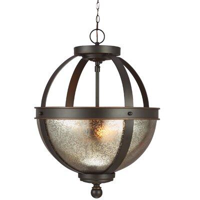 Doris 2-Light Bowl Pendant Shade Color: Mercury