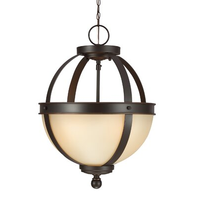 Doris 2-Light Bowl Pendant Shade Color: Caf�