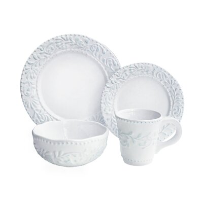 Amandine Leaf Leaf 16 Piece Dinnerware Set