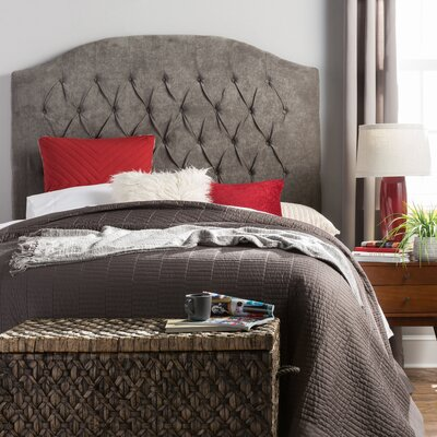 Myrtille Hanover Upholstered Panel Headboard Size: Queen, Upholstery: Charcoal Gray