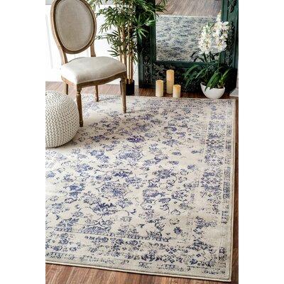 Aspremont Blue Area Rug Rug Size: 4 x 6