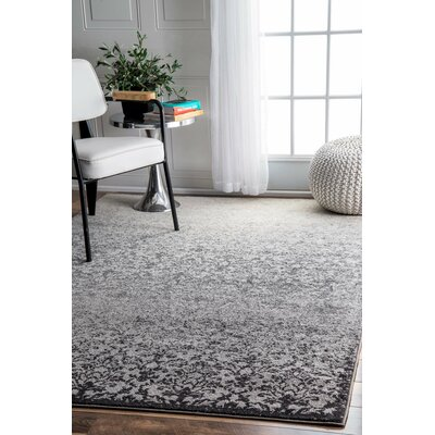 Guerande Gray Area Rug Rug Size: Rectangle 53 x 8