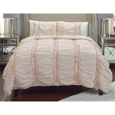 Oliveri Quilt Size: King, Color: Petal Pink