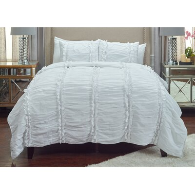 Pedraza Quilt Size: Queen, Color: White