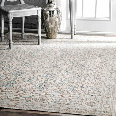 Shelford Beige Area Rug Rug Size: Rectangle 5 x 75