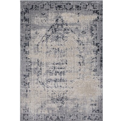 Hummell Rectangle Gray Area Rug Rug Size: Rectangle 5'3