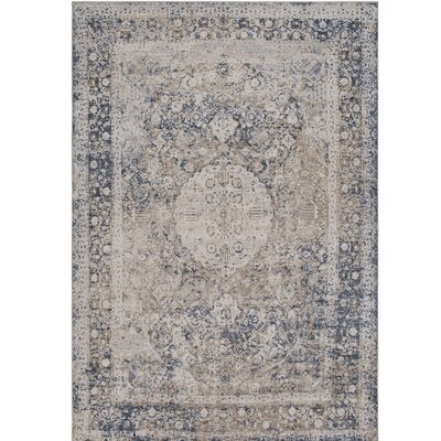 Hummell Gray Area Rug Rug Size: Rectangle 2' x 3'