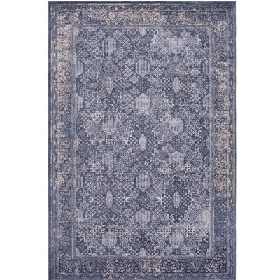 Hummell Blue Area Rug Rug Size: Rectangle 67 x 96