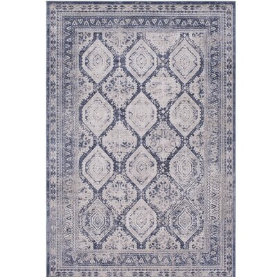 Hummell Traditional Gray Area Rug Rug Size: Rectangle 5'3