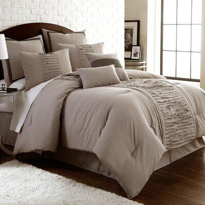 Guillotte 8 Piece Comforter Set Size: King, Color: Grey