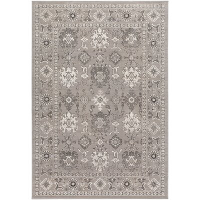 Velay Charcoal Area Rug Rug size: 54 x 78