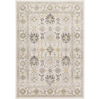 Velay Beige Area Rug Rug size: Rectangle 68 x 98
