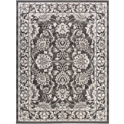 Velay Black Area Rug Rug size: Rectangle 711 x 11