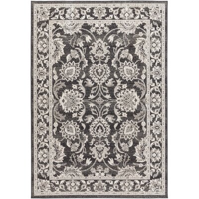 Velay Black Area Rug Rug size: Rectangle 54 x 78