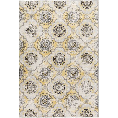 Raquel Yellow/Brown Area Rug Rug Size: Rectangle 68 x 98
