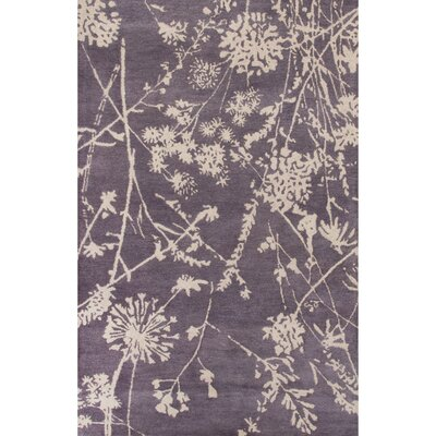 Olympias Hand-Tufted Purple/Ivory Area Rug