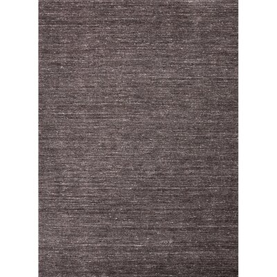 Waller Hand-Woven Wool Liquorice Area Rug Rug Size: Rectangle 8 x 10