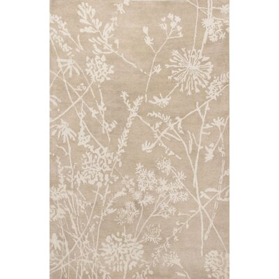 Boucher Hand-Tufted Ivory/Beige Area Rug Rug Size: 5 x 8