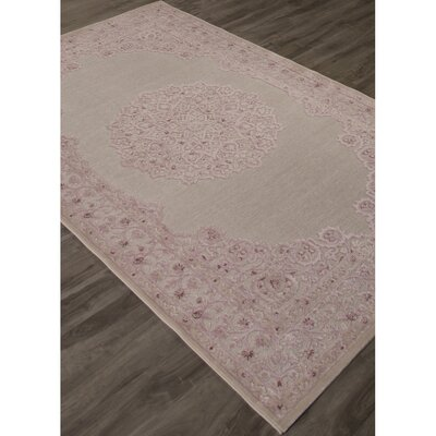 Fontanne Machine-Woven Chenille Ivory/Baby Pink Area Rug Rug Size: Rectangle 9 x 12