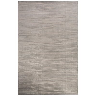 Pariaman Light Gray/Ivory Area Rug Rug Size: Rectangle 9 x 12