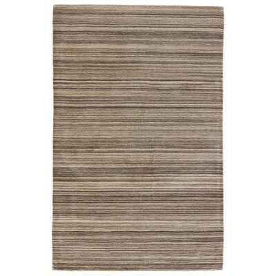 Elements Hand-Loomed Creme Brulee/Canteen Solid Area Rug Rug Size: Rectangle 2 x 3