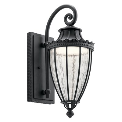 Farias 1-Light Outdoor Wall Lantern Size: 22.25