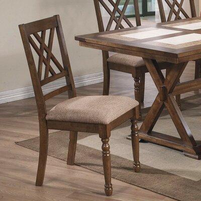 Lia Side Chair (Set of 2) Finish: Medium Brown
