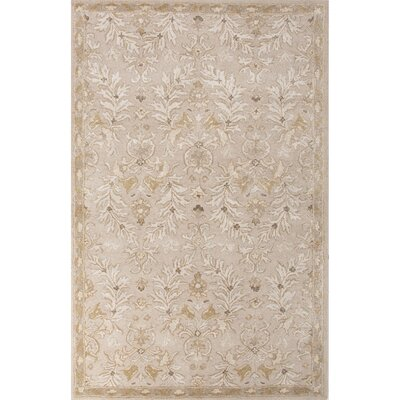 Onatas Hand-Tufted Ivory/Yellow Area Rug Rug Size: 5 x 8