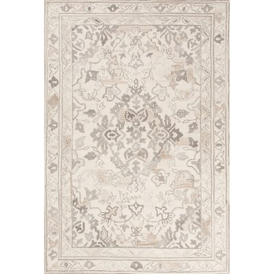 Onorato Hand-Tufted Ivory/Gray Area Rug Rug Size: Rectangle 5 x 8