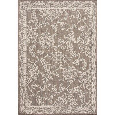 Ontiveros Gray/Ivory Indoor/Outdoor Area Rug Rug Size: 2' x 3'7