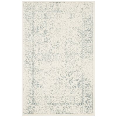 Issa Ivory/Slate Area Rug Rug Size: Rectangle 4 x 6