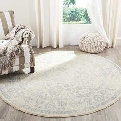 Issa Ivory/Slate Area Rug Rug Size: Square 8