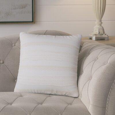 Dancy 100% Cotton Throw Pillow Color: Creme