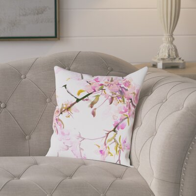 Colesville Cherry Blossom Outdoor Throw Pillow Size: 18 H x 18 W x 2 D
