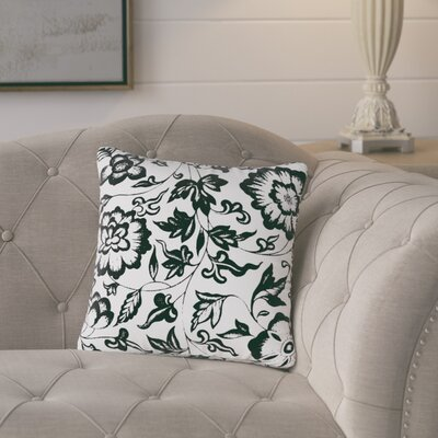 Alan Floral 100% Cotton Throw Pillow