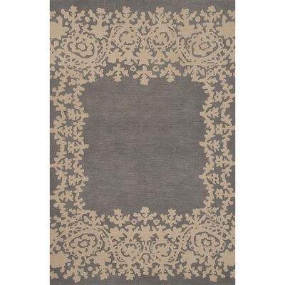 Ophion Hand Tufted Wool Gray/Ivory Area Rug Rug Size: 2 x 3