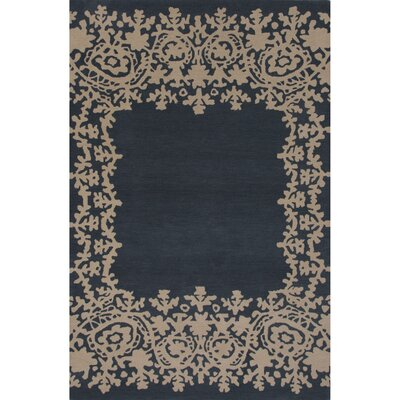 Ophion Hand Tufted Wool Mallard Blue Area Rug Rug Size: 5 x 8