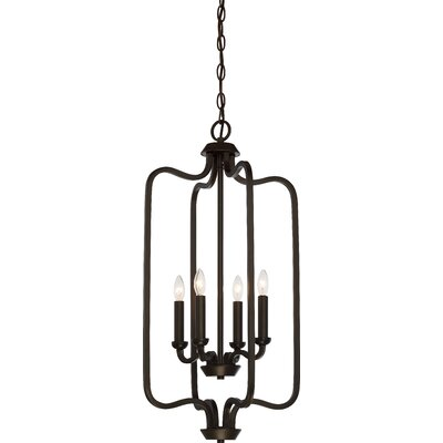 Duncan 4-Light Foyer Pendant Finish: Forest Bronze