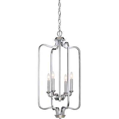 Duncan 4-Light Foyer Pendant Finish: Polished Nickel