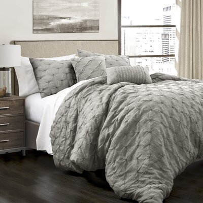 Opperman 5 Piece Comforter Set Size: Full/Queen, Color: Gray